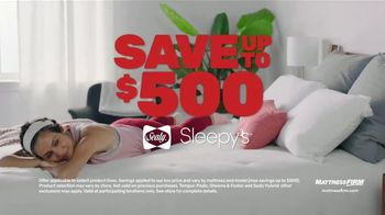 Mattress Firm Year End Sale TV Spot, 'Savings up To $500: Queen $299'