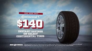 Big O Tires Year End Sales Event TV Spot, 'Continental Tires: $140 Savings' - Thumbnail 4