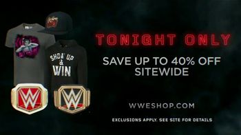 WWE Shop TV Spot, 'Inspired by Millions: 40% Sitewide' - Thumbnail 5