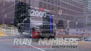 Toyota Run the Numbers Winter Event TV Spot, 'All-Wheel Drive' [T2] - Thumbnail 10