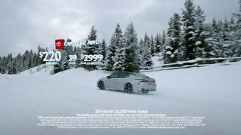 Toyota Run the Numbers Winter Event TV Spot, 'Start With Four: Camry' [T2] - Thumbnail 9