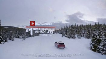 Toyota Run the Numbers Winter Event TV Spot, 'Start With One: Highlander' [T2] - Thumbnail 4