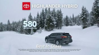 Toyota Run the Numbers Winter Event TV Spot, 'Start With One: Highlander' [T2] - Thumbnail 6