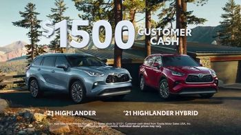 Toyota Run the Numbers Winter Event TV Spot, 'Start With One: Highlander' [T2] - Thumbnail 8