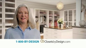 Closets by Design TV Spot, 'More Than Organizing: 40% Off'