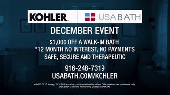 Kohler December Event TV Spot, 'Happy to Help: $1,000 off Walk-In Bath' - Thumbnail 10