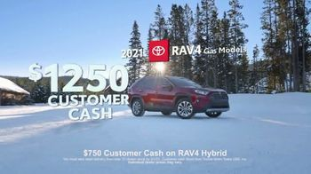 Toyota Run the Numbers Winter Event TV Spot, 'Start With Three: RAV4' [T2] - Thumbnail 9