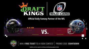 DraftKings Big Play Payday TV Spot, 'NFL Wild Card: Ravens vs. Titans' - Thumbnail 3