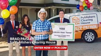 Publishers Clearing House TV Spot, 'Helping Change Lives' Featuring Brad Paisley - 124 commercial airings