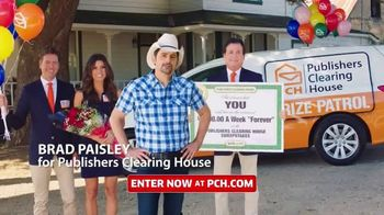 Publishers Clearing House TV Spot, 'Change Your Life: $5,000 a Week for Life' Featuring Brad Paisley
