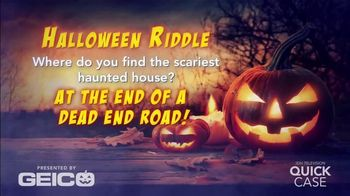 GEICO TV Spot, 'Ion Television: GEICOween Riddle: Haunted Houses' - 3 commercial airings