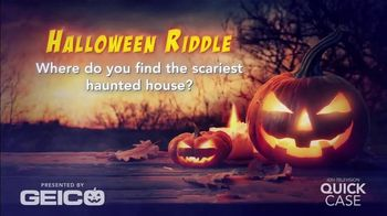 GEICO TV Spot, 'Ion Television: GEICOween Riddle: Haunted Houses' - Thumbnail 1