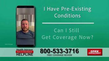 The Health Advisors Helpline TV Spot, 'Recent Events: Open Enrollment' - Thumbnail 6