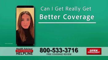 The Health Advisors Helpline TV Spot, 'Recent Events: Open Enrollment' - Thumbnail 8