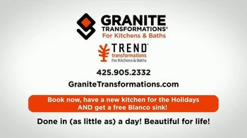 Granite Transformations TV Spot, 'Off-Time: New Kitchen Sink for the Holidays' - Thumbnail 10