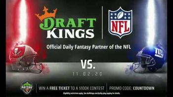 DraftKings Big Play Payday TV Spot, 'Ending NFL Week Eight' - 1 commercial airings