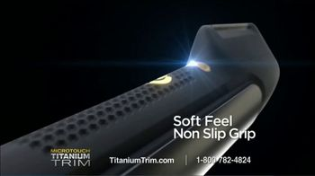 MicroTouch Titanium Trim TV Spot, 'If You Can Comb It, You Can Cut It' - Thumbnail 9