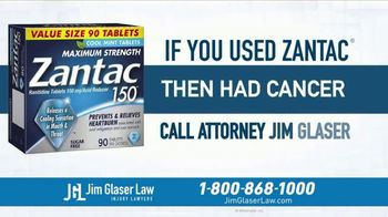 Jim Glaser Law TV Spot, 'Didn't Know: Workers Comp + Zantac' - Thumbnail 9