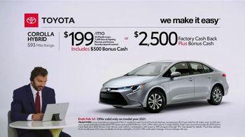 2021 Toyota Corolla Hybrid TV Spot, 'Commentary: Corolla Hybrid' [T2] - Thumbnail 2