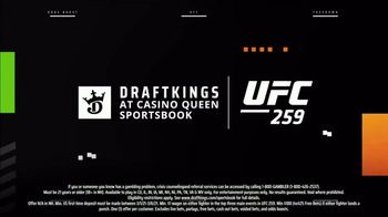 DraftKings at Casino Queen Sportsbook TV Spot, 'UFC 259: Stacks' - Thumbnail 6