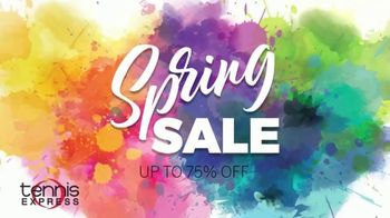 Tennis Express Spring Sale TV Spot, 'Up to 75% off'