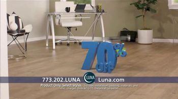 Luna Flooring 70% Off Sale TV Spot, 'Confident'