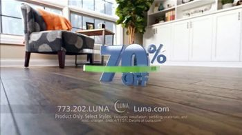 Luna Flooring 70% Off Sale TV Spot, 'Confident' - Thumbnail 2