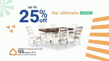 Ashley HomeStore Ultimate Event TV Spot, 'Dining Table and Special Financing' - Thumbnail 4