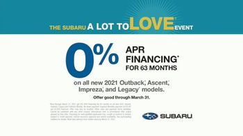 Subaru A Lot to Love Event TV Spot, 'Moment of Silence' [T2] - Thumbnail 8
