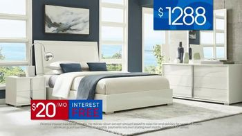 Rooms to Go 30th Anniversary Sale TV Spot, 'Contemporary Bedroom Set' Song by Junior Senior - Thumbnail 6