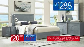 Rooms to Go 30th Anniversary Sale TV Spot, 'Contemporary Bedroom Set' Song by Junior Senior - Thumbnail 8