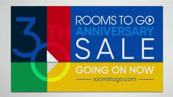 Rooms to Go 30th Anniversary Sale TV Spot, 'Three-Piece Sectional' Song by Junior Senior - Thumbnail 9