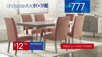 Rooms to Go 30th Anniversary Sale TV Spot, 'Cindy Crawford Home Five-Piece Dining Set' Song by Junior Senior - Thumbnail 7