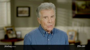 GreatCall Jitterbug Smart2 TV Spot, 'You're Not Alone: 25% Off' Featuring John Walsh - 849 commercial airings