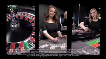 Unibet Live Casino TV Spot, 'Anytime, Anywhere: $10 Free'