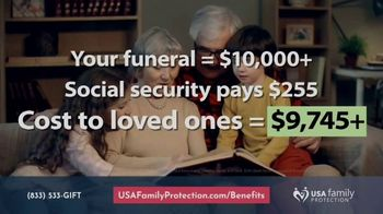 USA Family Protection Insurance Services TV Spot, 'Funeral Costs' - Thumbnail 2