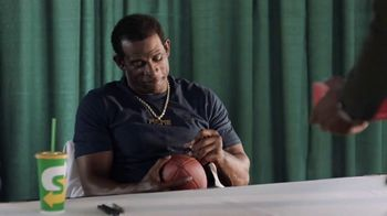 Subway TV Spot, 'Autograph: Footlong Offer' Featuring Deion Sanders