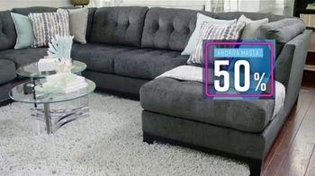 Ashley HomeStore Private Sale TV Spot, '50% de descuento y 0% de intereses' [Spanish] - Thumbnail 2