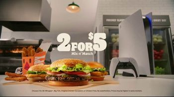 Burger King 2 for $5 Mix n' Match TV Spot, 'For the Players'
