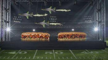 Subway TV Spot, 'Footlong Season: Buffalo & BBQ Chicken' - 1038 commercial airings