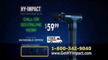 Hy-Impact Pro Massage Gun TV Spot, 'Precisely Calibrated Pulses' - Thumbnail 9
