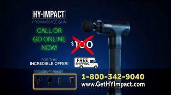 Hy-Impact Pro Massage Gun TV Spot, 'Precisely Calibrated Pulses' - Thumbnail 8