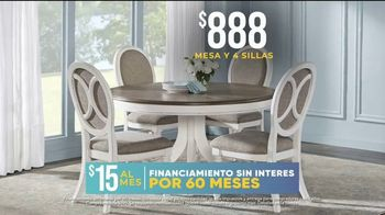 Rooms to Go La Venta por las Fiesta TV Spot, 'Juego de comedor' [Spanish] - Thumbnail 7