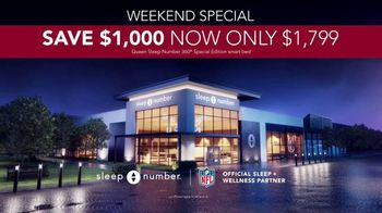 Sleep Number January Sale TV Spot, 'Weekend Special: Save $1,000 and Free Delivery' Ft. Travis Kelce - Thumbnail 7