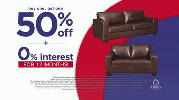 Ashley HomeStore Presidents Day Early Access Sale TV Spot, 'BOGO 50% Off: Sofa and Loveseat' - Thumbnail 5