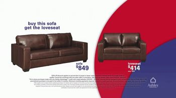 Ashley HomeStore Presidents Day Early Access Sale TV Spot, 'BOGO 50% Off: Sofa and Loveseat' - Thumbnail 6