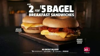 Jack in the Box 2 for $5 Bagel Breakfast Sandwiches TV Spot, 'Why Choose One?' - Thumbnail 7