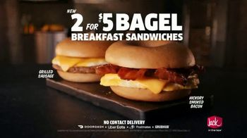 Jack in the Box 2 for $5 Bagel Breakfast Sandwiches TV Spot, 'Why Choose One?: Contract' - Thumbnail 9
