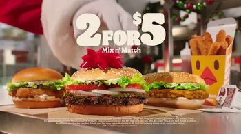 Burger King 2 for $5 Mix n' Match TV Spot, 'Holiday Joy Delivered: $1 Delivery, $5 Minimum' - Thumbnail 10