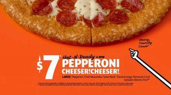 Little Caesars Pepperoni Cheeser! Cheeser! TV Spot, 'Tastes Like a Million Bucks: Delivery' - Thumbnail 9
